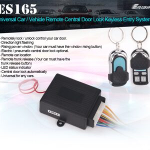 Erisin ES165 Universal Car/Vehicle Remote Central Door Lock Keyless Entry System