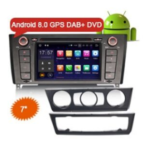 "Erisin ES7840B 7"" HD Car Radio Android 8.0 DAB+ 4G GPS DVD Player for BMW E81 Hatchback E82 Coupe E88 Convertible"