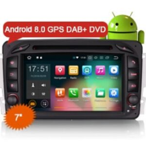 "Erisin ES7863C 7"" Android 8.0 Car Stereo GPS DAB+ DVD 4G WiFi for Benz C/CLK/G Class W203 W209 Vito Viano"