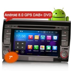 "Erisin ES7871F 7"" Android 8.0 Car Stereo GPS 4G Wifi TPMS DAB+DVR Canbus BT OBD for FIAT BRAVO"