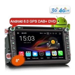 "Erisin ES8805V 8"" Android 8.0 Car Stereo DAB+ GPS CD DVD OPS 4G Wifi for VW Passat Golf Tiguan Eos Jetta Seat"