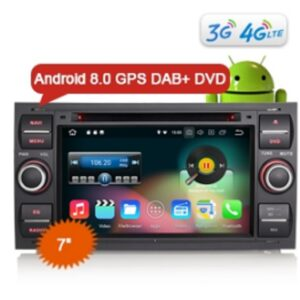 "Erisin ES8831F 7"" Android 8.0 Car DVD GPS Player 4G TPMS DAB+ DVR for FORD C/S-MAX KUGA FIESTA FUSION TRANSIT"