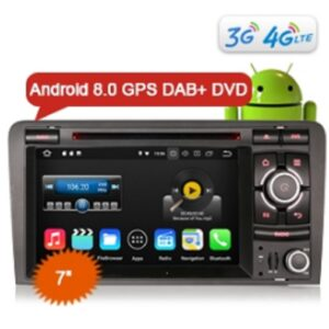 "Erisin ES8827A 7"" Octa Core Android 8.0 Car DVD CD Player GPS 4G Wifi DAB+ DTV-IN for AUDI A3 S3"