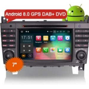 "Erisin ES7869C 7"" Android 8.0 Car Stereo DAB+ GPS System DVD CD SD 4G for Mercedes Benz C/CLK Class W203 W209"