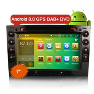 """Erisin ES7813M 7"""" HD 8-Core Android 8.0 Car Stereo GPS Navigation DAB+ DVR Wifi 4G for RENAULT MEGANE"""