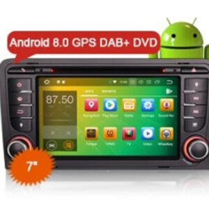 "Erisin ES7847A 7"" Octa-Core Android 8.0 Car Radio DVD GPS Player 4G Wifi DVR DAB+ DTV-IN for AUDI A3 S3 RS3"