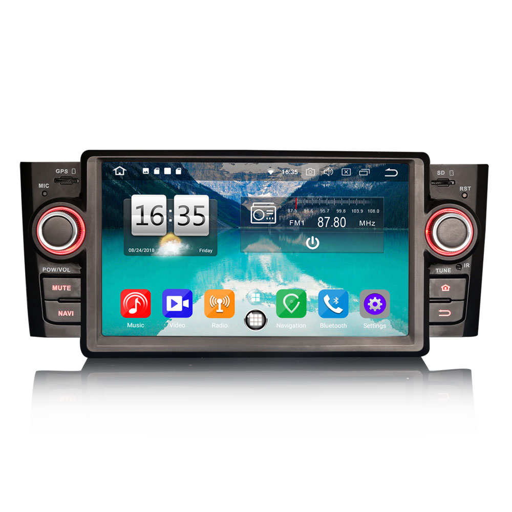"Erisin ES7523L 7"" 8-Core Android 8.0 Car Stereo GPS SAT WiFi DAB+DVR BT TPMS OBD2 for Fiat Punto Linea"