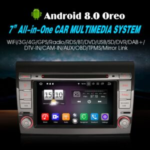 "Erisin ES7571F 7"" Android 8.0 Car Stereo System DVD GPS Wifi DAB+DVR CD 4G Bluetooth OBD SD for FIAT BRAVO"